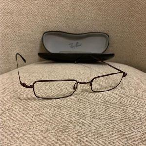 Men's Ray Ban Glasses in Maroon